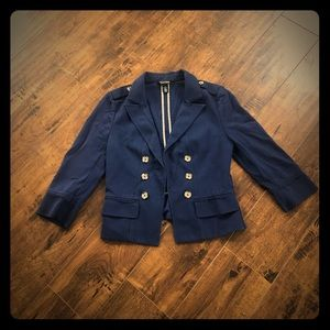 WHBM Navy Blue Blazer With Buttons